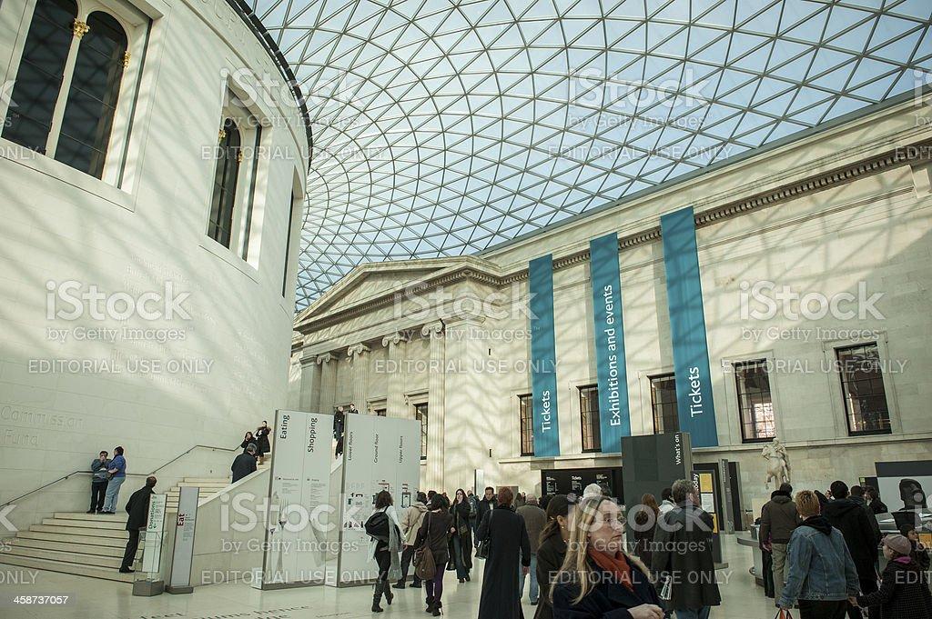 Foyer Museum Uk : British museum foyer interior glass ceiling stock photo