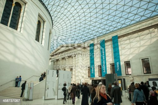British Museum Foyer : British museum foyer interior glass ceiling stock photo