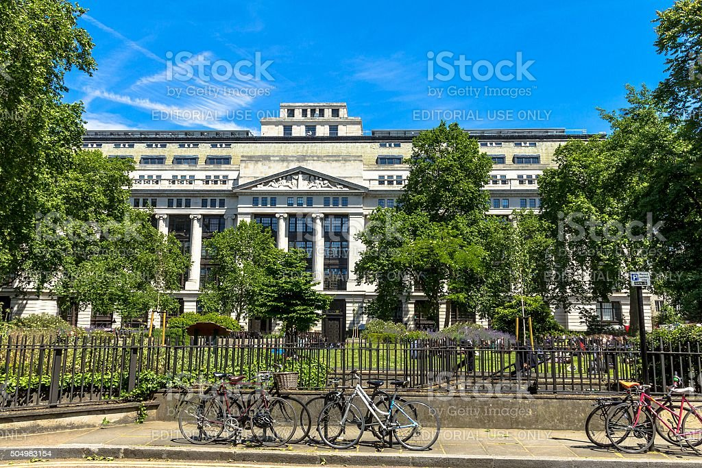 British Museum side view. London stock photo
