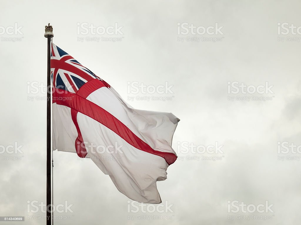 british naval flag stock photo