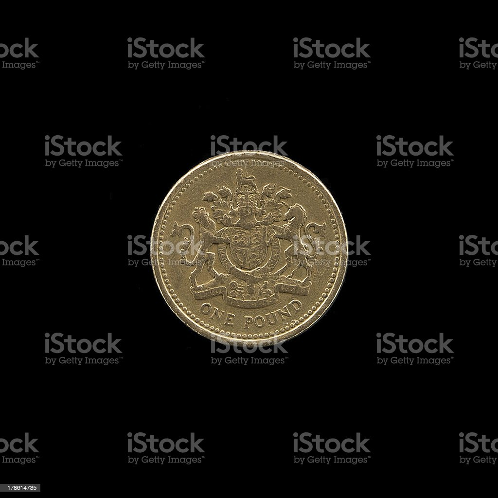 British One Pound Coin royalty-free stock photo