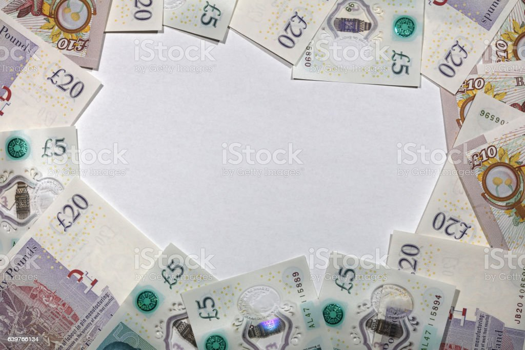 British Paper Currency stock photo