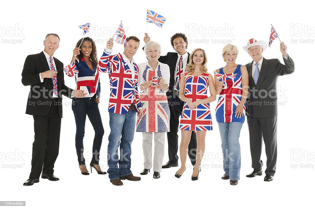 British Party People royalty-free stock photo