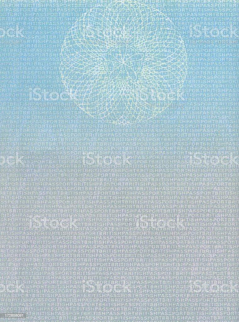 British Passport Blank page royalty-free stock photo