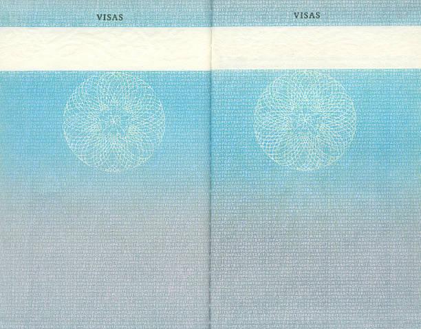 British pasaporte páginas en blanco - foto de stock
