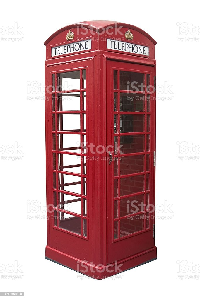 British phone booth stock photo