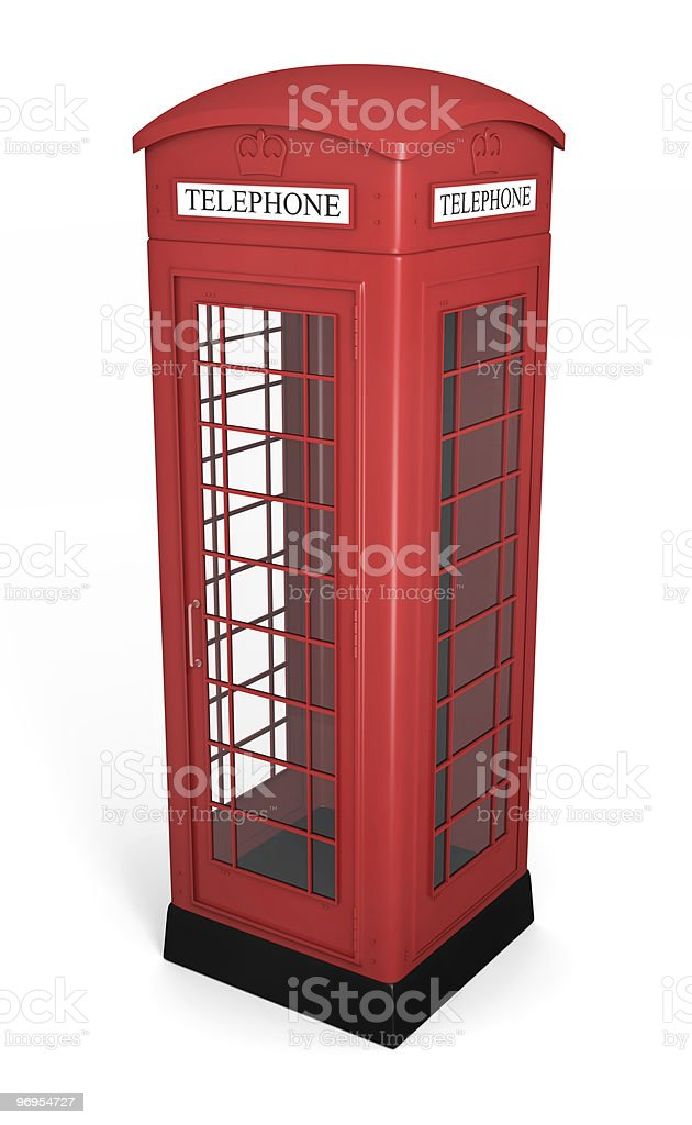 British phone booth royalty-free stock photo