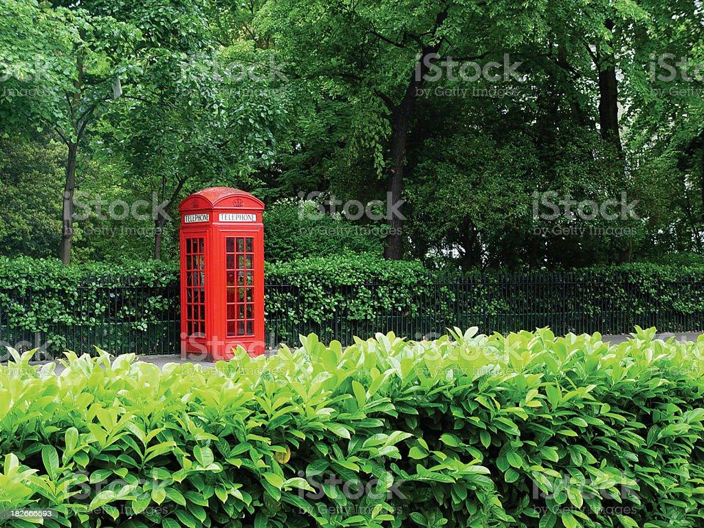 British Phonebooth royalty-free stock photo