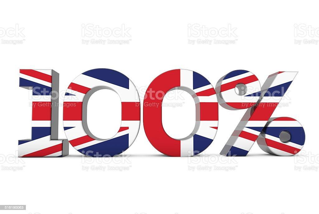 100% British stock photo