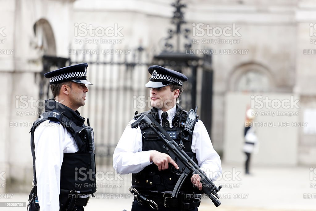 British Police Officers stock photo