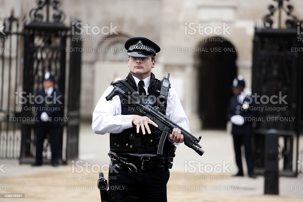 British Police stock photo