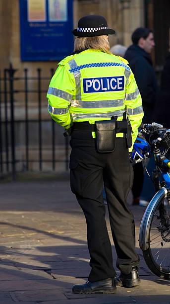 British Police Woman stock photo