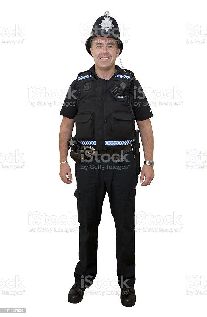 British Policeman stock photo