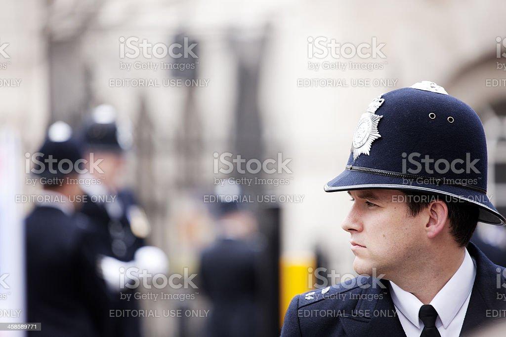 British Policeman royalty-free stock photo