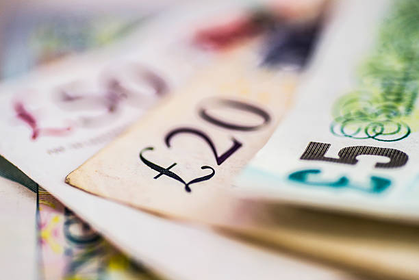 British pound banknotes A variety of british currency paper money. ten pound note stock pictures, royalty-free photos & images