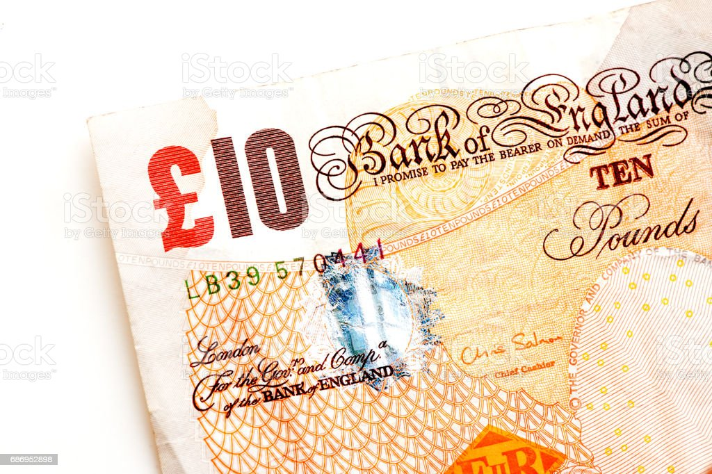 British pound banknotes stock photo