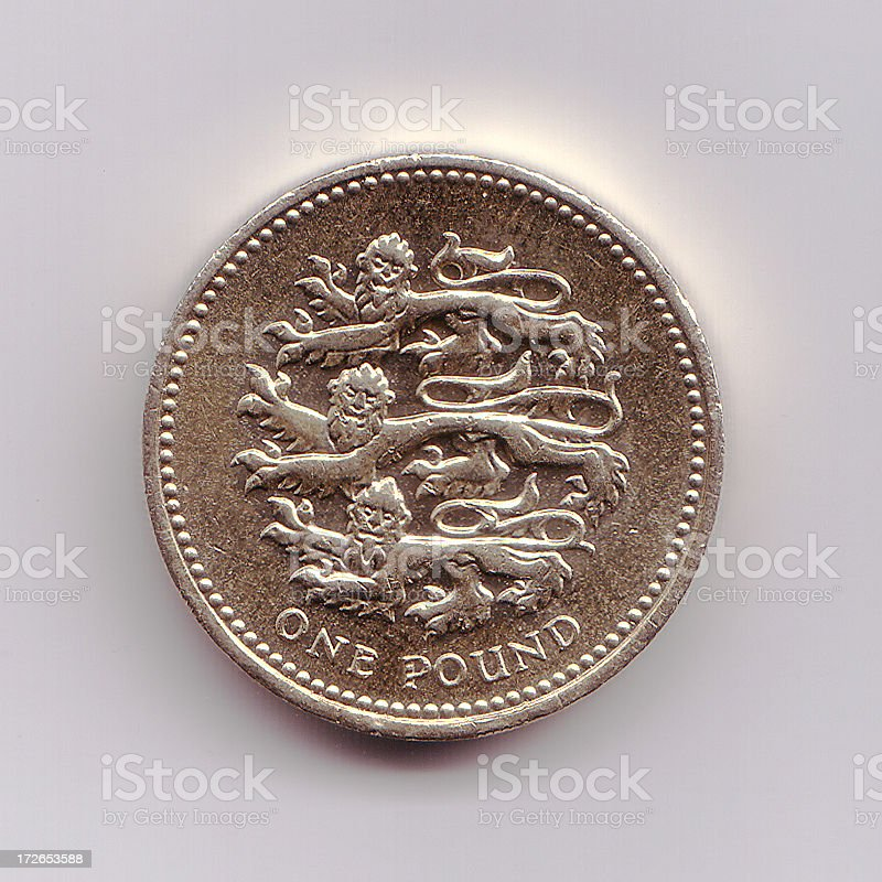 British Pound Coin stock photo