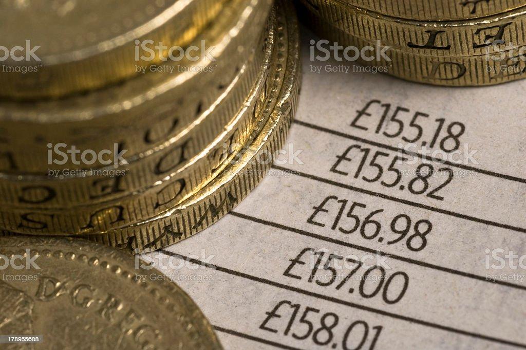 British pound coins royalty-free stock photo