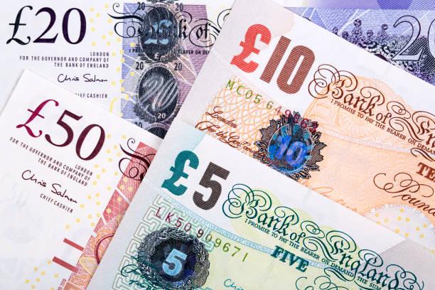 Britische Pfund ein geschäftlicher Hintergrund – Foto