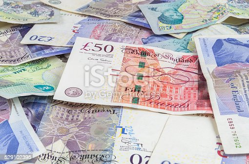 istock British pounds banknotes background 529102395