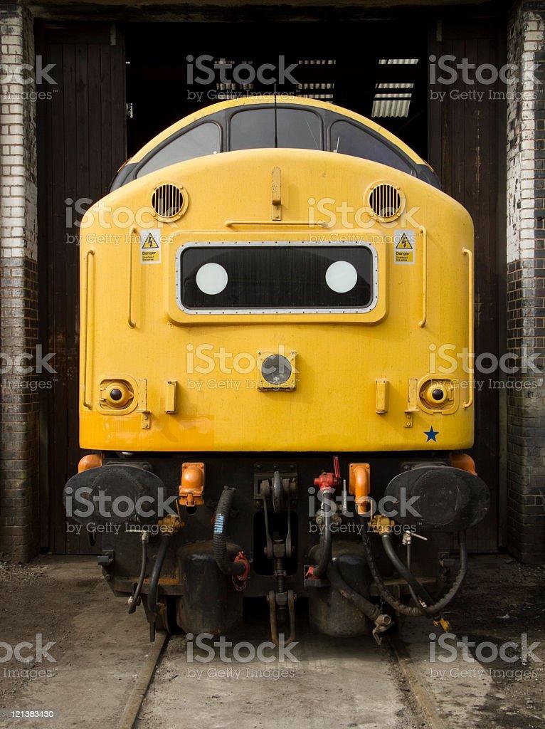 british rail, diesel train engine locomotive, front shot royalty-free stock photo