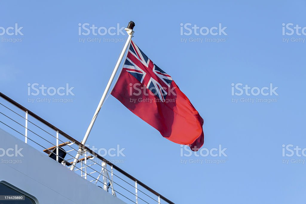 British Red Ensign Flag stock photo
