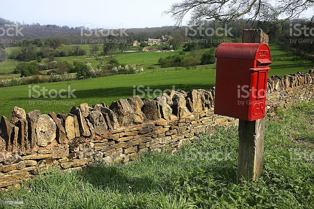 British red mail box royalty-free stock photo