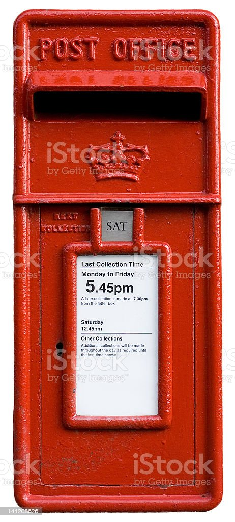 british red post box, letterbox royalty-free stock photo