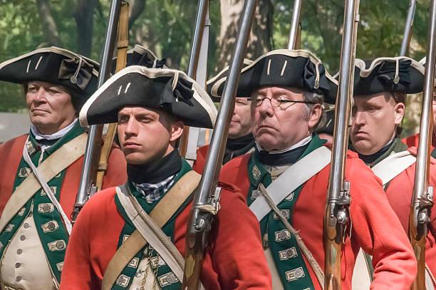 British regulars at the ready