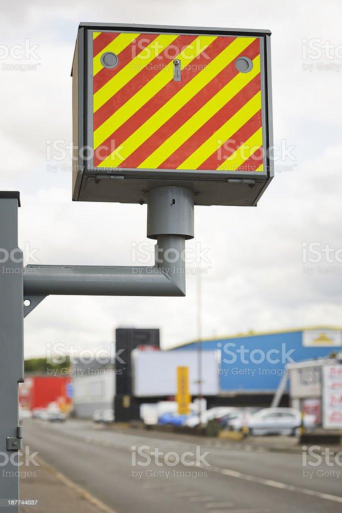 British Roadside Speed Camera stock photo