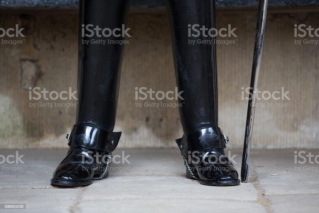 British royal guard part of stock photo