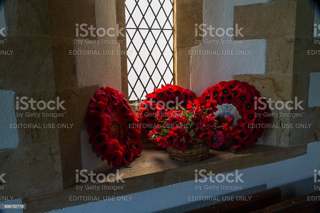 "TYNEHAM €"" DECEMBER 27 British Royal Legion Remembrance wreath royalty-free stock photo"