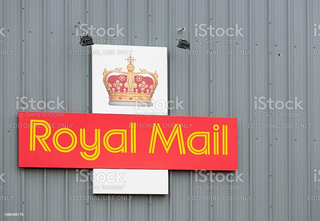 British Royal Mail Logo royalty-free stock photo