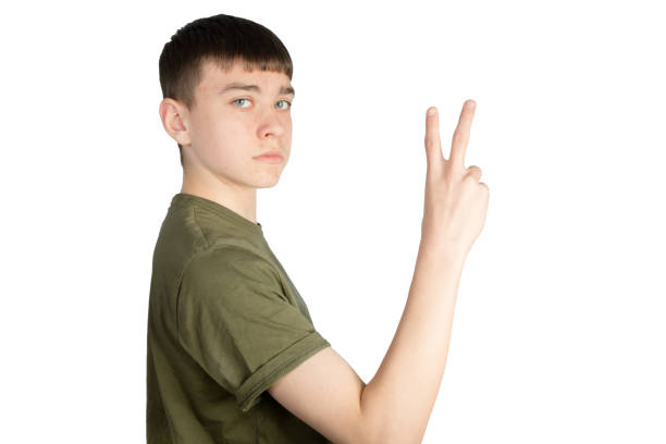 British Sign Language stock photo
