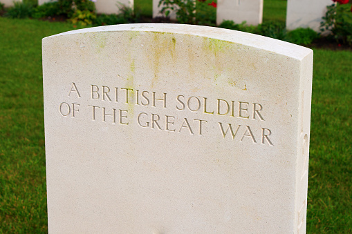 British soldier of the great world war one