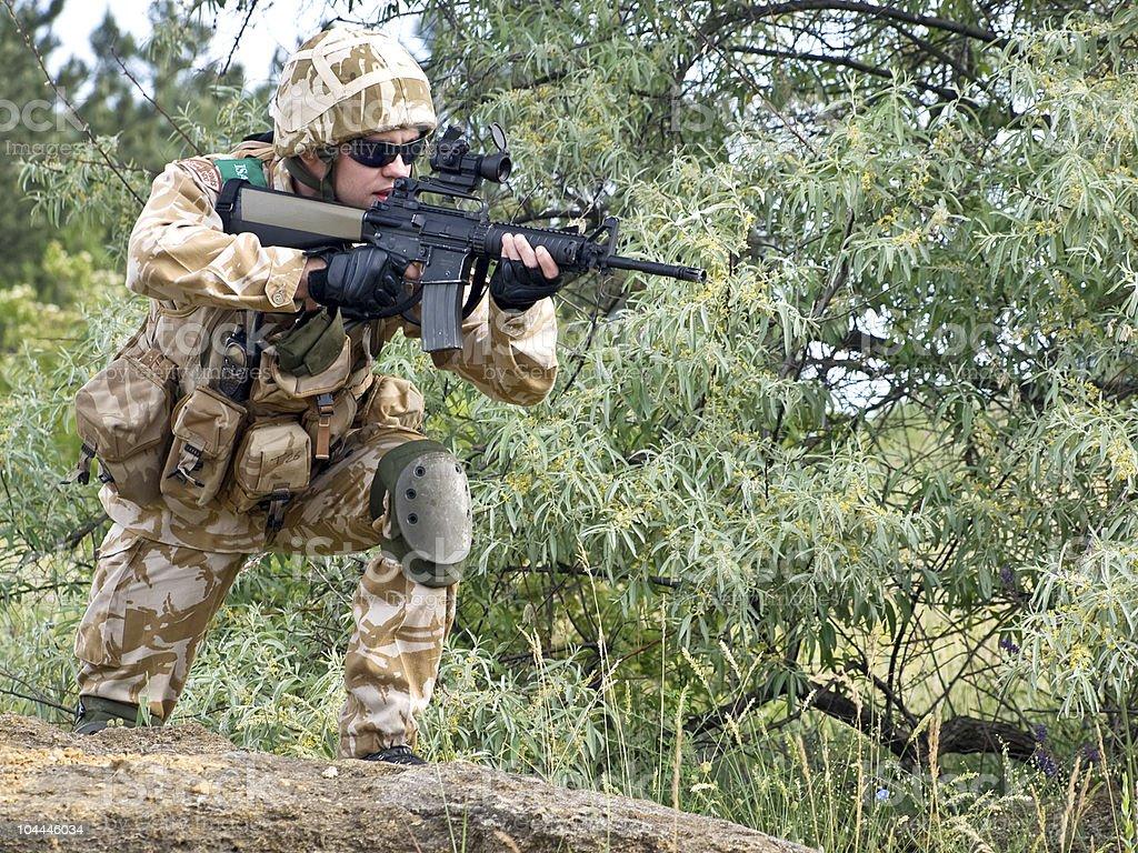 British soldier royalty-free stock photo