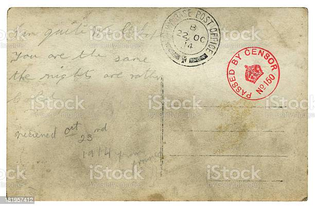 British soldier's postcard from France, 1914