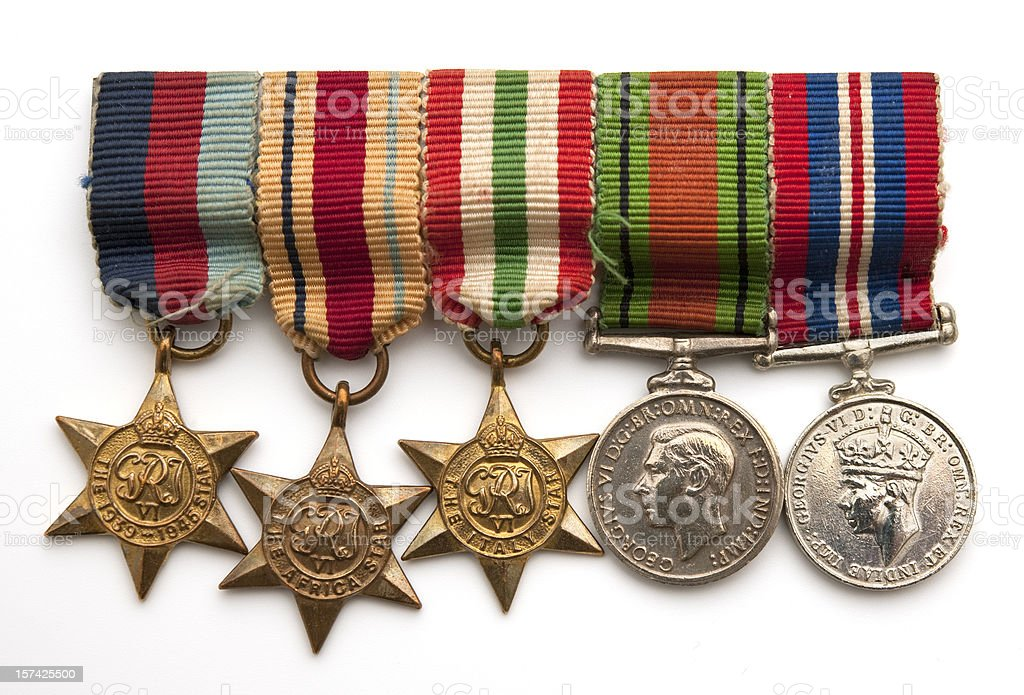 british soldiers world war two medals stock photo