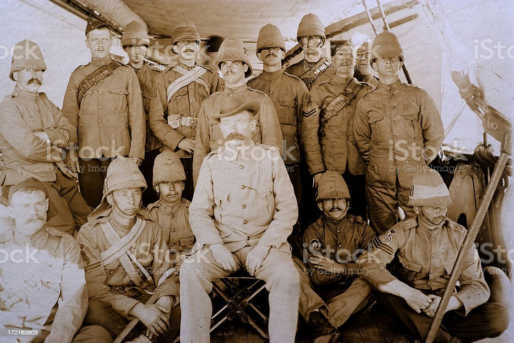 British Soliders royalty-free stock photo