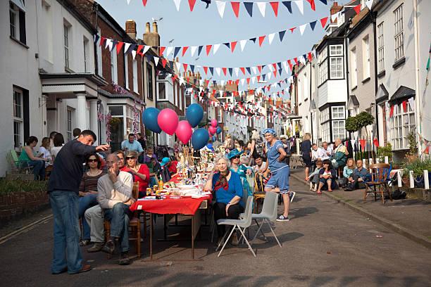 british street party - vicino foto e immagini stock