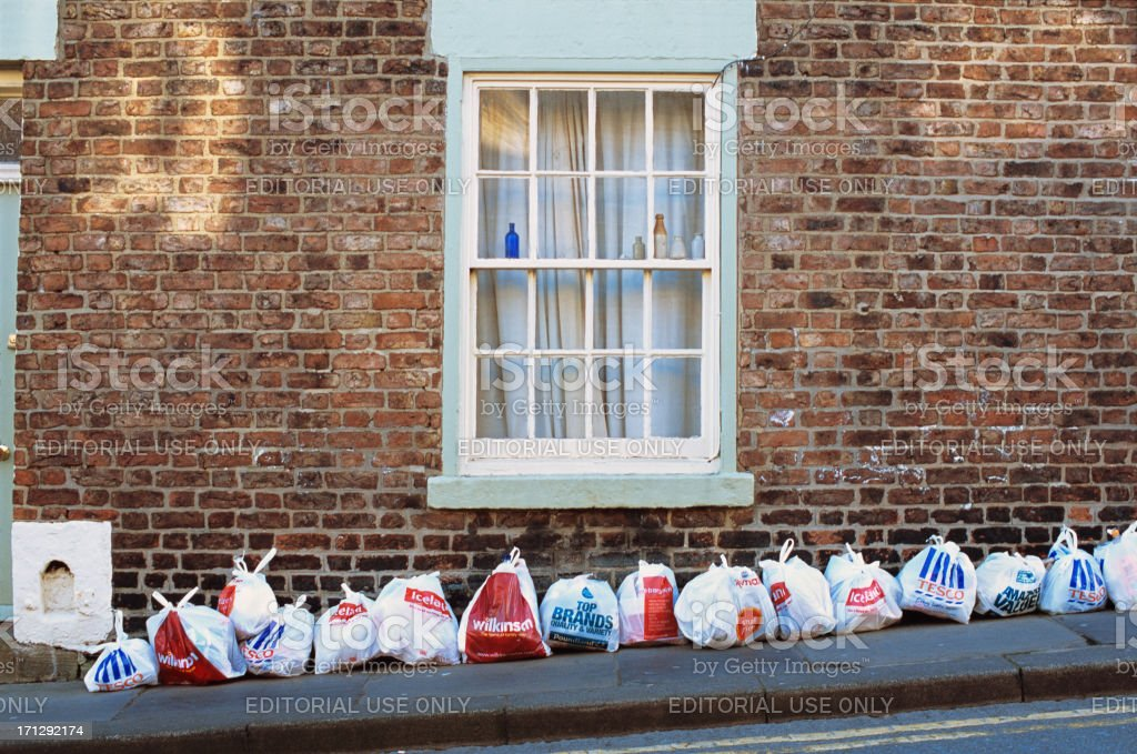 British supermarkets rubbish stock photo