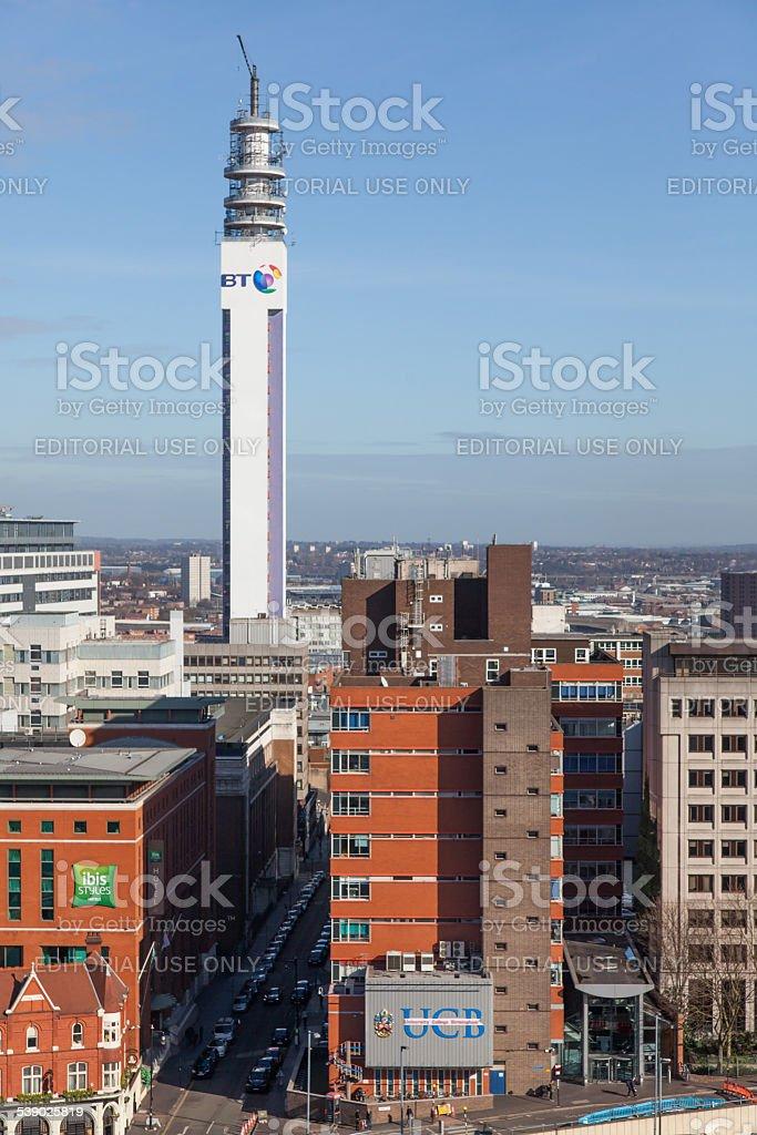 British Telecom Tower Birmingham stock photo