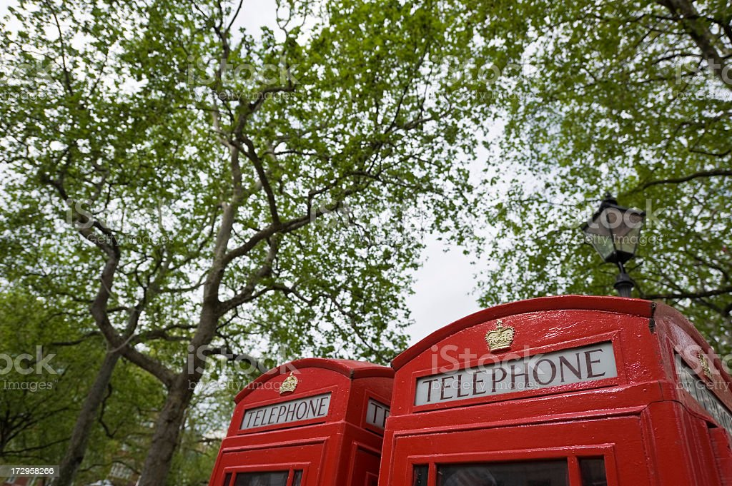 British telephone booths royalty-free stock photo