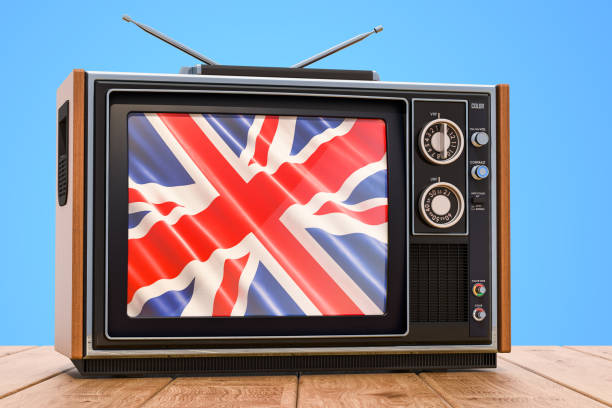 British Television concept, 3D rendering stock photo