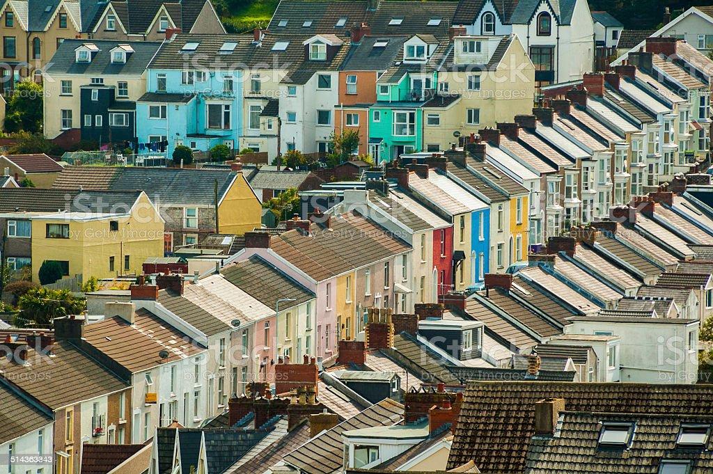 British Terraced Housing stock photo