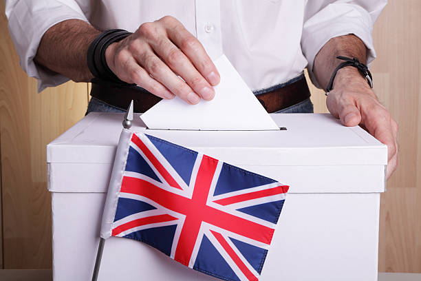 British to vote stock photo