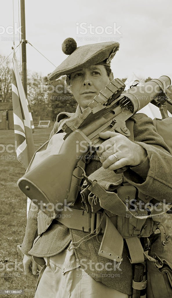 WW1 British Tommy royalty-free stock photo