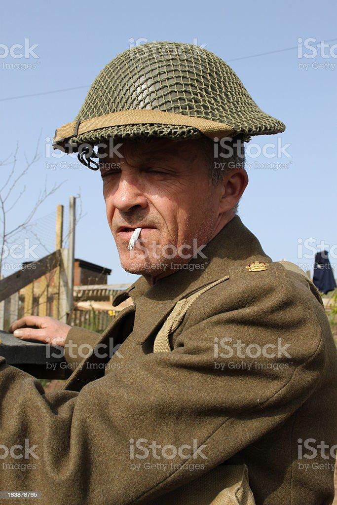 WW2 British Tommy. stock photo
