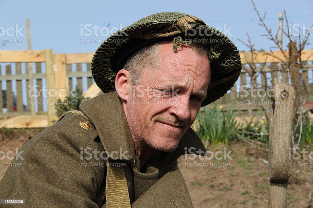 British Tommy. stock photo
