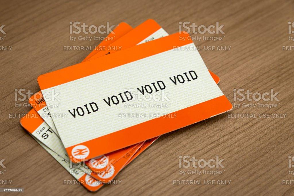 British Train Ticket Failiure stock photo